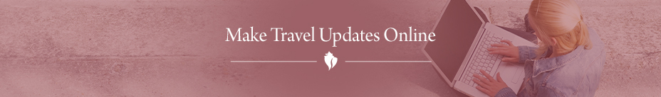 Make Travel Updates Online