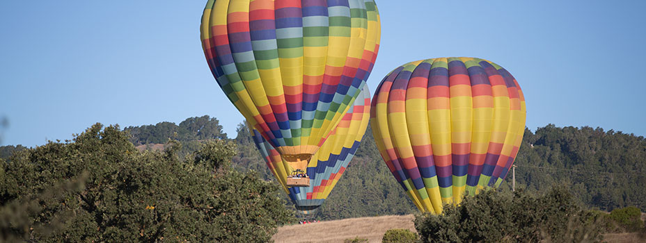 Hot Air Ballooning in Napa in the Fall